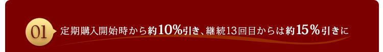 定期購入開始時から約10%引き